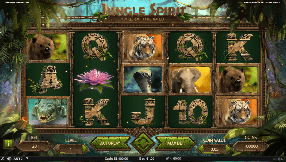 Jungle Spirit: Call of the Wild uk slot game