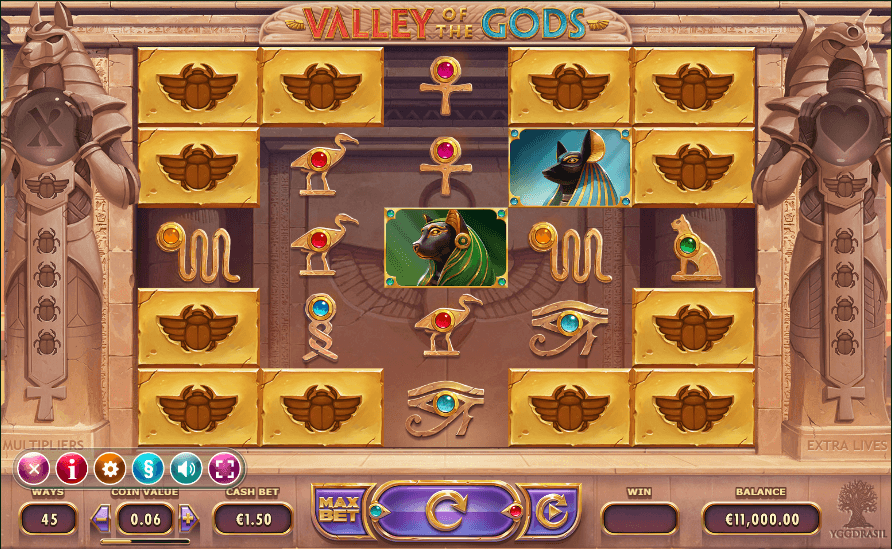 Valley of the Gods uk slot game