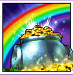 rainbow rich pots of gold feature
